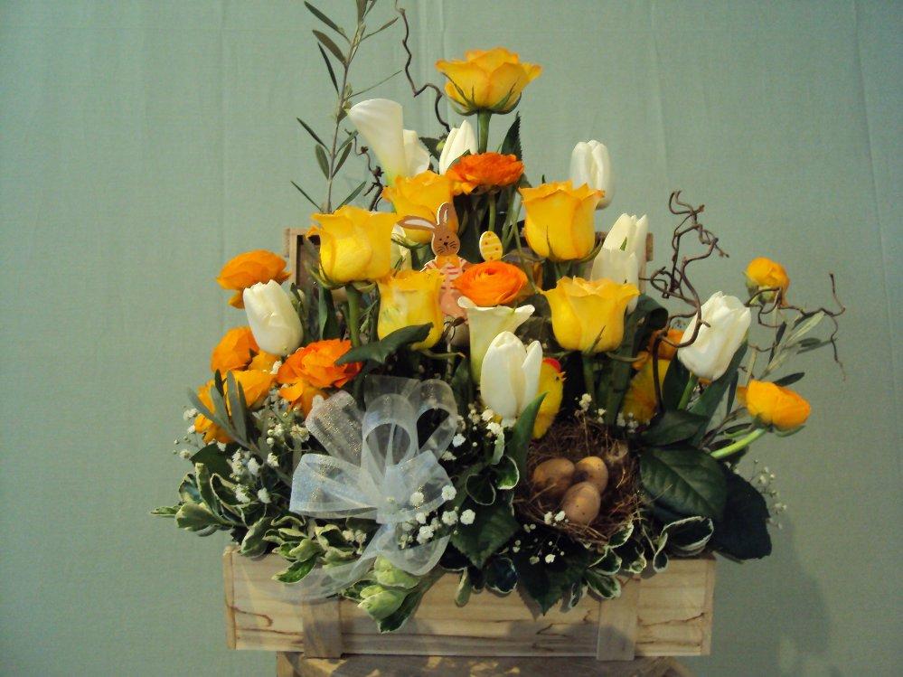 Preferenza Composizione mista fiori recisi in cassetta - ACQUISTA ONLINE VK95